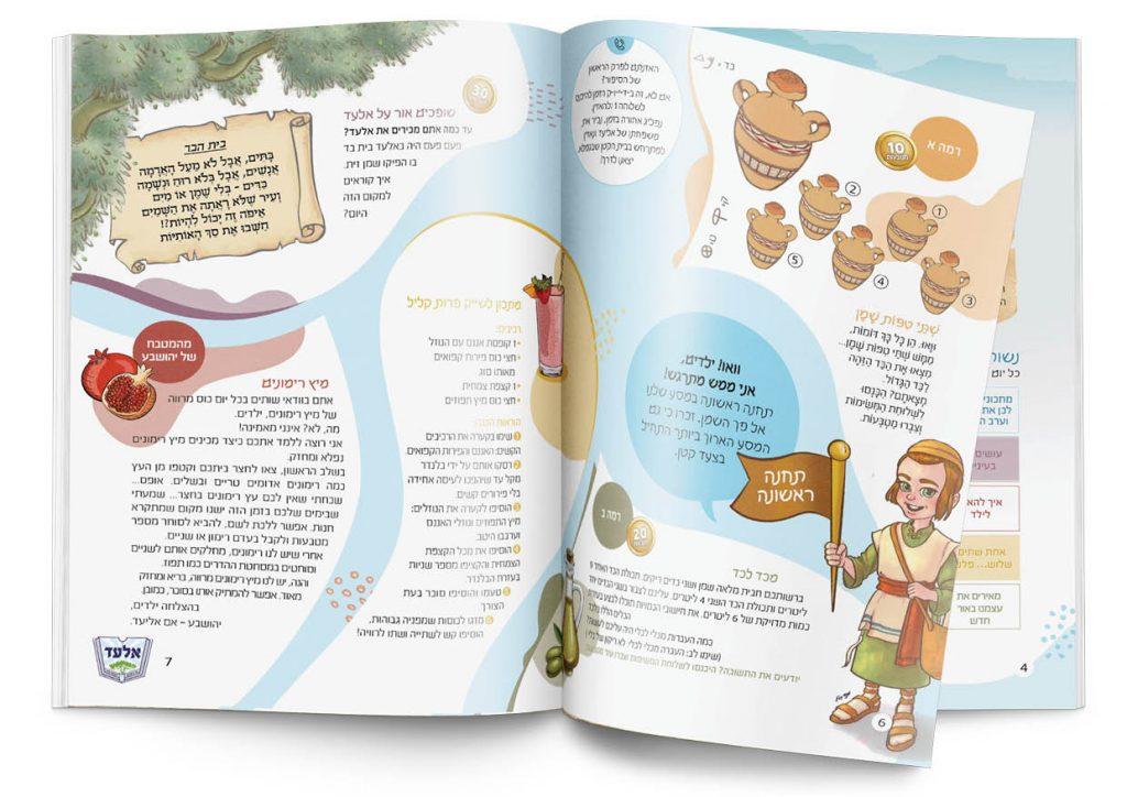 פרסום פיקנטי עיצוב חוברת עיריית אלעד 4